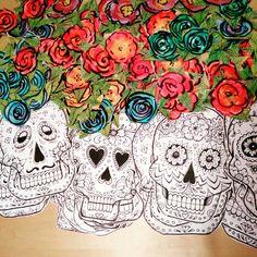 La muerta skulls til halloween guilander