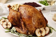 Cider, used to baste the bird and also in the scrumptious sauce, adds a fresh, fruity accent to this roasted fowl