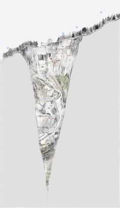 Spine 3 Narrative Drawing - Site Plan and Section | Max Bontoft