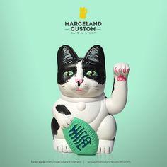 Marceland Custom Cats 'N Stuff custom maneki neko  / beckoning cat - http://www.marcelandcustom.com