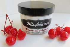 Our newest addition to the star-studded Blissfulicious family -Cherries Jubilee Sugar Scrub – Blissfulicious.com