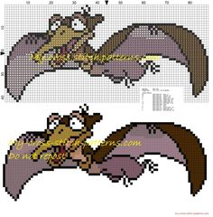 Petrie The Land Before Time  cross stitch pattern