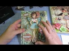 Mixed media canvas using Faber Castell - YouTube