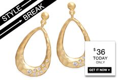 #STYLE #BREAK! Get the #Roxanne #Earrings for #$36. #Today #only!