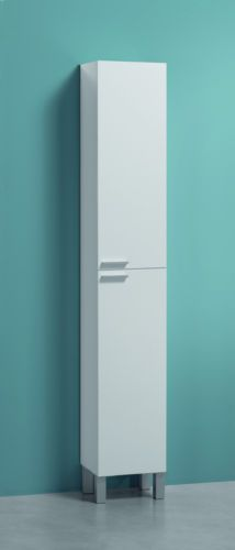 Koncept-Tall-Narrow-Bathroom-Cupboard-Black-Gloss-White-Furniture-Unit-Cabinet