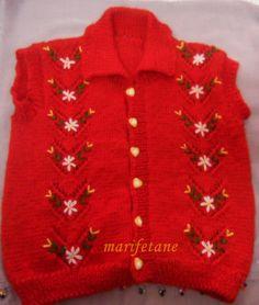 İşlemeli Örgü Bebek Yeleği Modeli devamı: http://www.marifetane.com/2014/11/islemeli-orgu-bebek-yelegi-modeli.html