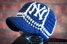 Crochet sports on Pinterest Crochet Baseball Hats ...