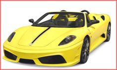 Image for Yellow Sports Car White Background