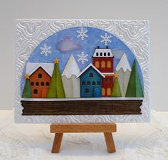 I really love this new Tim Holtz Sizzix snow globe thinlits die cuts set. The pieces are a little small to work with, especially if you ar...