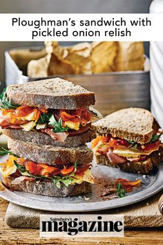 Best Sandwich, Sandwich Recipes, Cheese And Pickle Sandwich, Relish Recipes, Onion Relish, Cooked Apples, Pickled Onions, Picnic Foods, Recipes