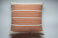 Handwoven  decorative wool and cotton pillow by TextileNatural