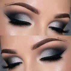 Eye Makeup - Dramatic Black and Silver Prom Eye Makeup Look - Ten (10) Different Ways of Eye Makeup