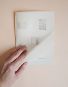 Oda Haugerud, layout, translucent vellum, blush
