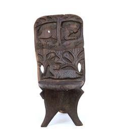 Malawi Bantu Mpingo Wood Chair #1677   Malawi Chairs   Stools / Chairs — Deco Art Africa - Decorative African Art - Ethnic Tribal Art - Art Deco
