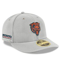 078cff157 Men s Chicago Bears New Era Gray Crafted in the USA Low Profile 59FIFTY  Fitted Hat
