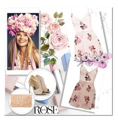 """Rose"" by pamela-annus ❤ liked on Polyvore featuring Tom Ford, Dune, Lipsy, Sephora Collection and Karlsson"