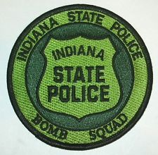 INDIANA EOD BOMB SQUAD POLICE PATCH