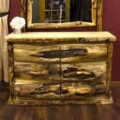 Rustic Log Furniture Evokes Summer