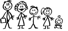 Family Member Mix N Match Stick Figures Clip Art Stick Figures Clip, Free Clipart Catalogue. Use these free Stick Family Clipart for your personal projects or designs. Stick Figure Family, Stick Family, Family Of 4, Family Car Stickers, Family Clipart, Clip Art Library, Butterfly Sketch, Coloring Pages To Print, Stick Figures