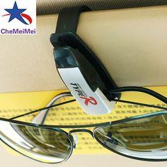 Auto Fastener ABS Car Vehicle Sun Visor Sunglasses Eyeglasses Glasses Holder Card Ticket Pen Clip Automotive Accessories Hot