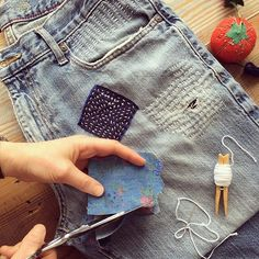 Want to learn to mend your clothes in style? Join our Boro + Sashiko workshop on 2/13 to learn how to decoratively repair your clothes with the beautiful Japanese art of mending! Registration closes Monday, so click the link in our profile and grab your spot today.  #reuse #mend #Boro #sashiko #boroandsashiko #repair #denim #denimpatch #greenliving #creativereuse #creativeliving #diyfashion #diy #embroidery