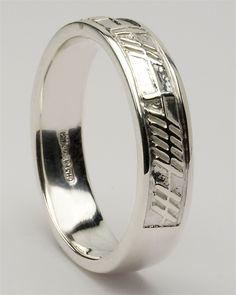 Retired Mens Silver Celtic Wedding Rings MS-WED142 love forever