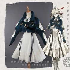 Pre-order Violet Evergarden Cosplay Full Dress S M L Costume Anime Cos Clothes