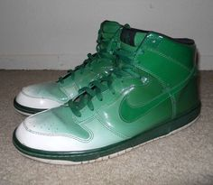 low priced b0c6e 808f5 Nike Dunk High Supreme Spark Destroyers Pack White Pine Green 349710-131 sz  14