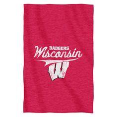 Wisconsin Badgers NCAA Sweatshirt Throw
