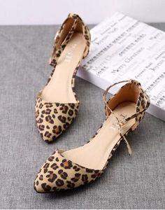 Velvet Leopard Print Low Heels