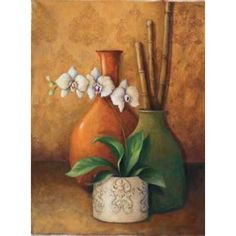 Posterazzi Modern Orchid II Canvas Art - 3 Bamboo Studio (18 x 24)