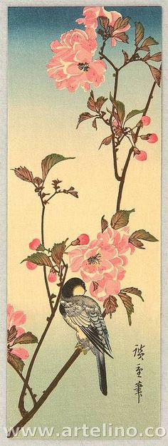 Utagawa Hiroshige: Bird and Cherry Blossoms - Artelino