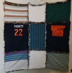 These Ragged T-shirt Quilt Directions will show you how to make a rag quilt with your old t-shirts that are too sentimental to get rid of.