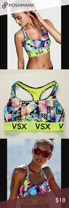 Victoria's Secret Racerback Sports Bra The Player Look stylish in your workout outfit with this sexy VS racerback sports bra. Wicks away moisture while You sweat to keep You cool. Gently worn. No flaws. Victoria's Secret Other