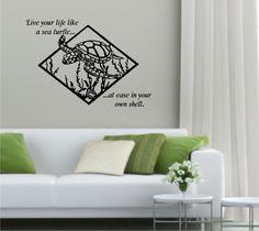 Sea Turtle  Inspirational Vinyl Wall Decal by stickemupvinyls