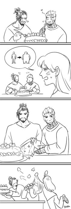 Mostly Overwatch. Mostly McHanzo. Overwatch Hanzo, Overwatch Memes, Overwatch Fan Art, Genji Shimada, Hanzo Shimada, Overwatch Funny Comic, Genji And Hanzo, Funny Games, Funny Comics