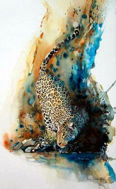 A África aquarelada de Karen Laurence Rowe