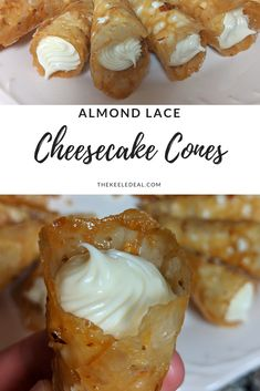 Almond Cheesecake Cones - The Keele Deal