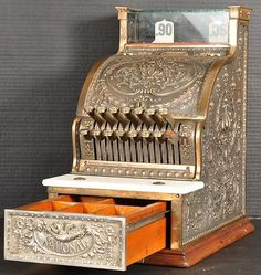 Antique National NCR brass candy store cash register mint condition 1910
