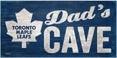 NHL Dad's Cave - Toronto Maple Leafs Wooden Sign