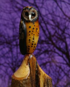 The Masked Owl bead