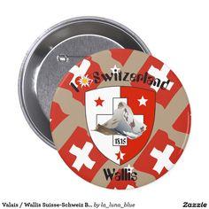 Valais / Wallis Suisse-Schweiz Buttons