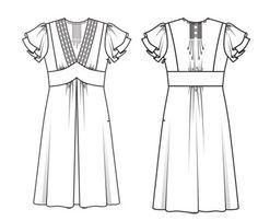 Robe 107 du Burda 12-2011 (en liberty)