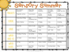 10 weeks of Summer Sensory Bin fun! Each week we will have a new sensory bin full of materials that we will use every day. We will be coming up with tons of different ways to use the materials all week long, keeping things new and fresh.