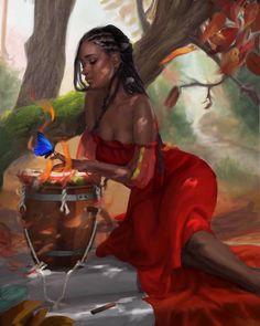 Chronicles of the African girl Art Black Love, Black Girl Art, Art Girl, African American Art, African Art, Art Beauté, Arte Black, Black Art Pictures, Black Artwork