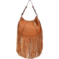 $278 NWT JOES JEANS Hayward Brown Leather Fringe Hobo Purse Bag Med Crossbody #JoesJeans #Hobo