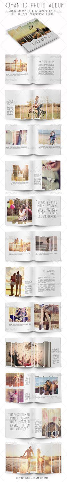 Romantic Photo Album Template | Download: http://graphicriver.net/item/romantic-photo-album/7819816?ref=ksioks