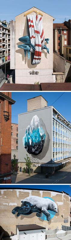 Towering Murals by NEVERCREW Confront Equally Monumental Issues