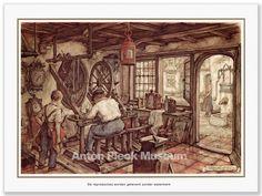 Klokkenmaker Anton Pieck, Fantasy House, Dutch Painters, Landscape Paintings, Landscapes, Gustav Klimt, Art Sketches, Fairy Tales, Cool Art