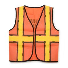 Kids Construction Vest Description: Look like a construction worker. The perfect vest for your construction party. Vest is made of synthetic material and Construction For Kids, Construction Crafts, Construction Birthday Parties, Construction Worker, Kids Dress Up Costumes, Costume Ideas, Halloween Costumes, Toddler Costumes, Tool Party